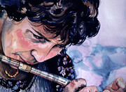 Annie with flute