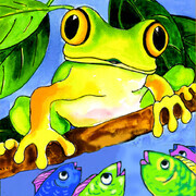 Frog and Fishes